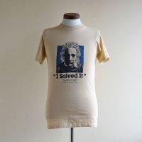 1980s Albert Einstein プリントTシャツ  表記M