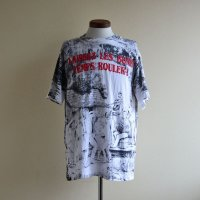 1990s LAISSEZ LES BONS TEMPS ROULER 総柄プリントTシャツ  MADE IN USA  表記L