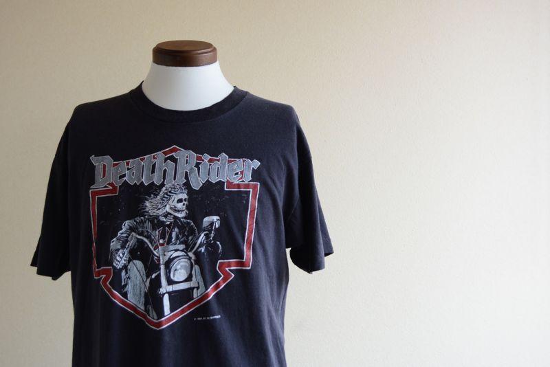 7a181402a9baa 1980s DeathRider Tシャツ 表記XL - 古着屋HamburgCafe